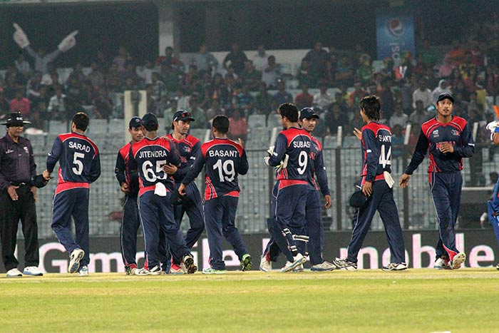 In the end, Nepal stunned Afghanistan by nine runs.