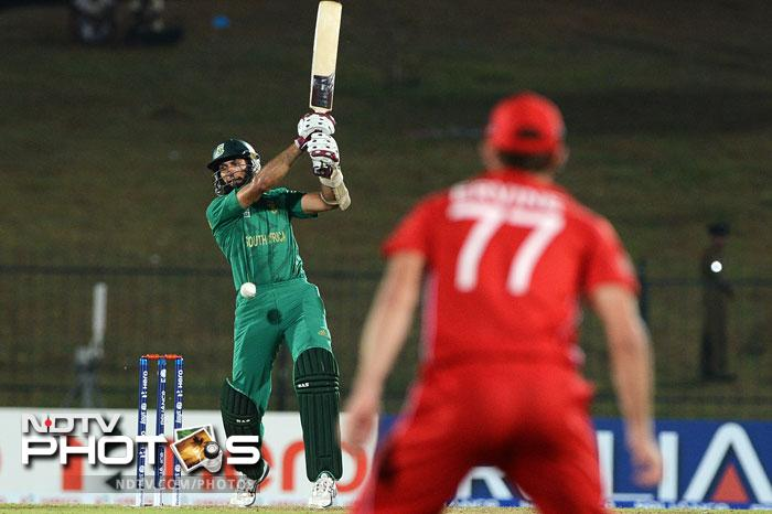 He was ably supported by Hashim Amla as the two made a mockery of Zimbabwe's total.