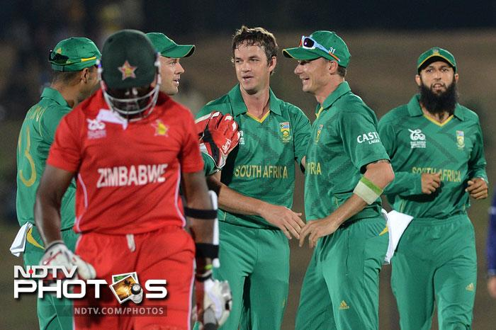 South Africa displayed their dominance of the twenty over format and crushed Zimbabwe by 10 wickets in a match that never lived up to being a contest. A look at how the Proteas dismantled the opposition piece by piece. (All AFP Photos)