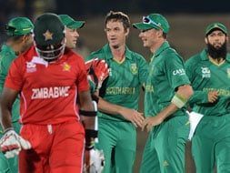 Photo : World T20: Dominant South Africa sink a hapless Zimbabwe