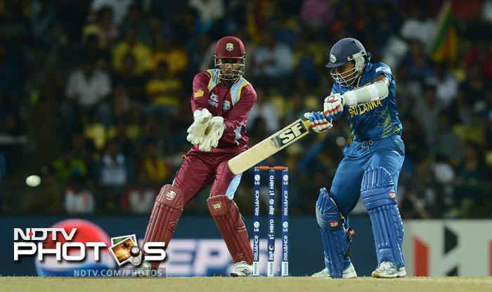 Skipper Mahela Jayawardena led from the front smashing 65 not out from 49 balls with 10 fours and 1 six. His mindset made it clear that Sri Lanka were in a hurry to get it over with.
