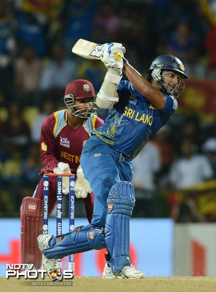 Kumar Sangakkara gave Mahela the support he needed scoring a quick 39 not out so despite Dilshan's early departure they could make light work of the modest target.