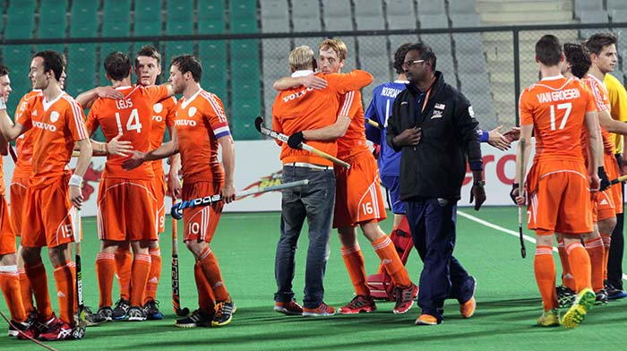 In the third place playoff, Netherlands thrashed Malaysia 7-2 to win the bronze.