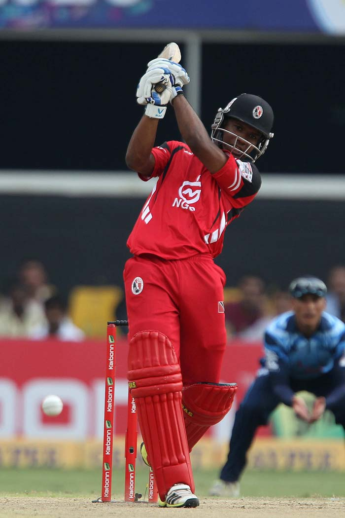 Evin Lewis was in superb form as he smashed 70 from 35 balls.