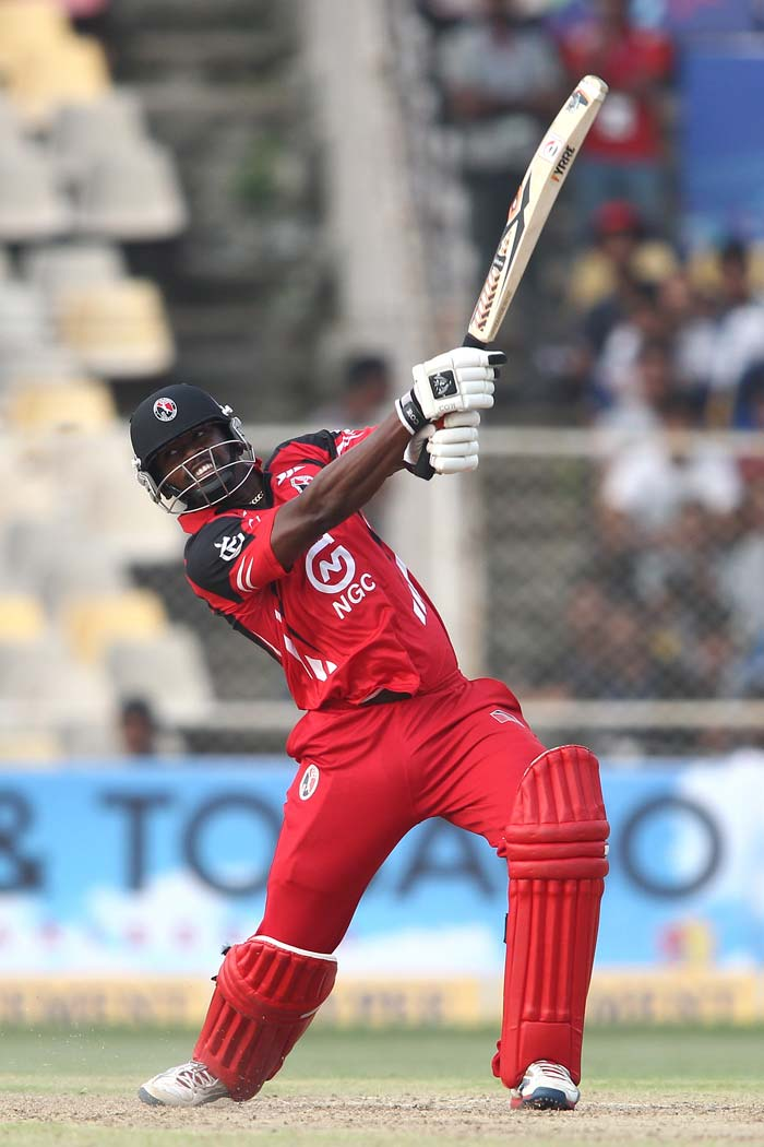 Navin Stewart's quickfire 23 boosted the total to 188/6.