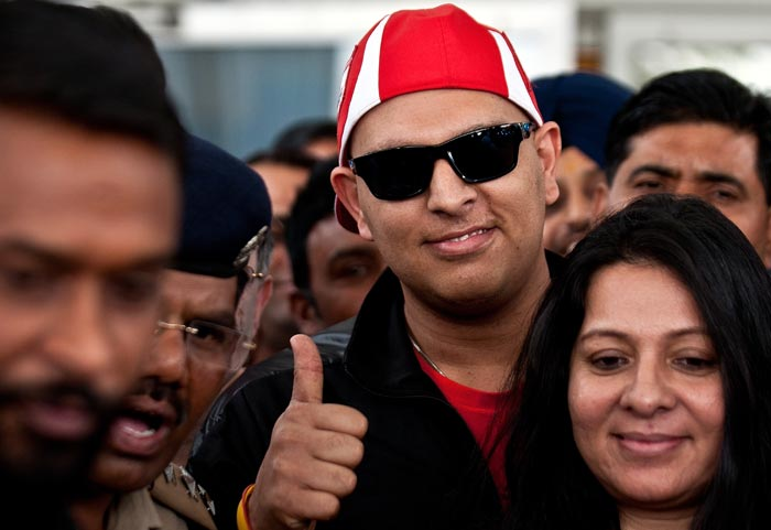 Yuvraj Singh, who underwent three cycles of chemotherapy for rare germ cell cancer between his lungs, returned home earlier this month to a rousing welcome and among the many is master blaster Sachin Tendulkar.