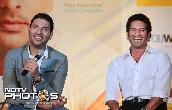 """Sachin said his fears of problems arising in Yuvraj's recovery were dismissed with """"the amount he ate at dinner in London."""""""