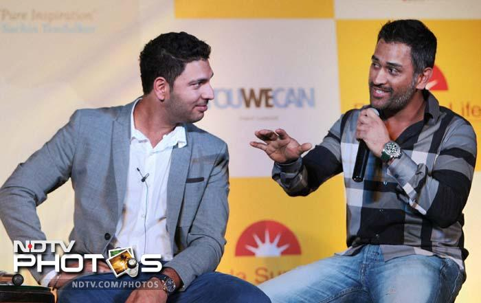 Despite the 4th Test versus Australia starting soon, MS Dhoni sat alongside his 'buddy' Yuvraj and was all praise for his fighting spirit.