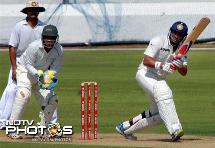 Yuvraj Singh made a clear statement to the cricketing fraternity hitting 208 runs for North Zone against Central Zone in the Duleep Trophy semi-final played at Hyderabad in his comeback to first class cricket. (All PTI Images)