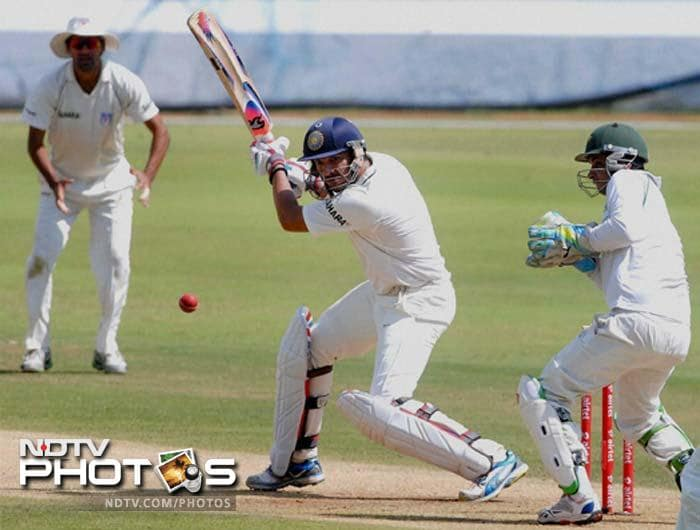 Yuvraj looked in good touch as he stroked the ball freely right from the start and these are clearly ominous signs for his opponents that he is getting back in the groove.
