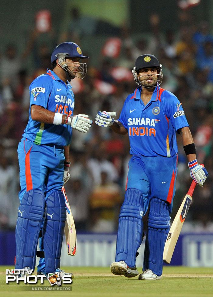 Yuvi was involved in a good partnership with Virat Kohli who hit his personal best of 70 to give India a good chance.