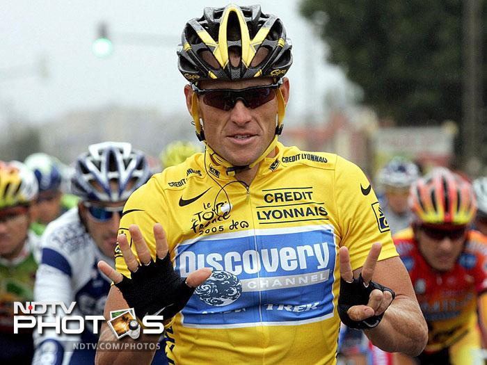 <b>Lance Armstrong:</b> The American cyclist was diagnosed with Stage 3 testicular cancer in 1996, but he recovered to go on to win the sport's most prestigious race, the Tour de France, an unprecedented seven times. Yuvraj, during his treatment, read his autobiography for inspiration. Although Armstrong has been stripped off his Tour titles, Yuvraj continues to call him his real-life hero.