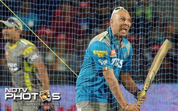 Despite the long absence Yuvraj hardly looked rusty in the nets. (AFP PHOTO)