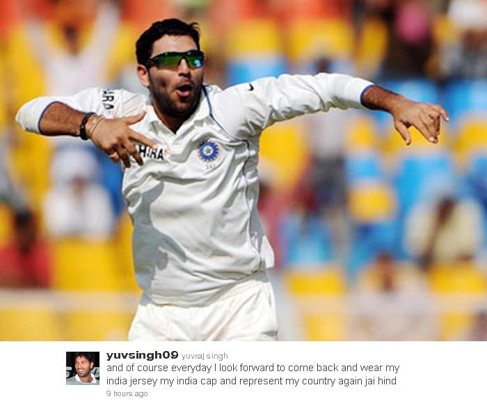 Yuvraj Singh expresses his desire of wearing the Indian jersey again.