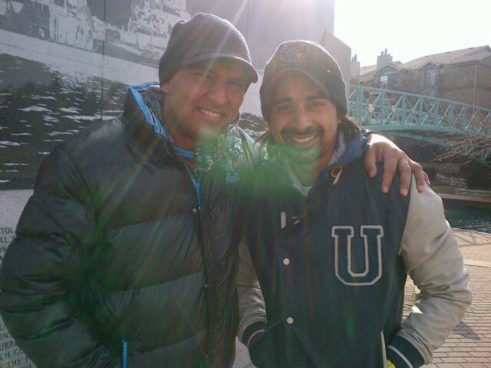 "MTV-VJ, actor and Yuvraj's good friend Ranvijay Singh also went to meet the cricketer.<br><br>Yuvi tweeted: ""@RannvijaySingha came all the way to see me ! Means a lot !""<br><br>They later watched comedy film Andaz Apna Apna together."