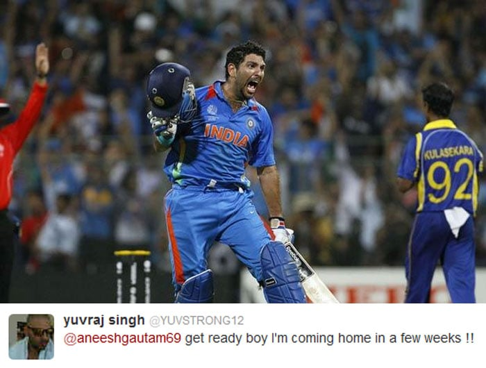 Yuvraj indicated that he could return home in a few weeks after reports of successful chemotherapy in the US.