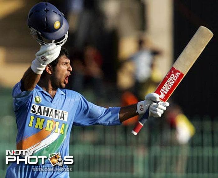 <b>110 vs West Indies in 2006:</b> After struggling with his form for long, Yuvraj Singh regained his magical touch in this match, although he had missed out on a hundred in the preceding match just by 2 runs. Known for his ability to bat well under pressure, Yuvraj once again pulled his side out of trouble. The West Indies pacers had reduced India to 51/3 in Colombo. Their fiery pace had Sourav Ganguly in hospital as he had injured his unguarded arm. Yuvraj and Kaif joined again to see their side through. They played the middle overs cautiously, stole singles and then changed the gear in the slog overs. While Yuvraj slammed 110, Kaif got a half-century.