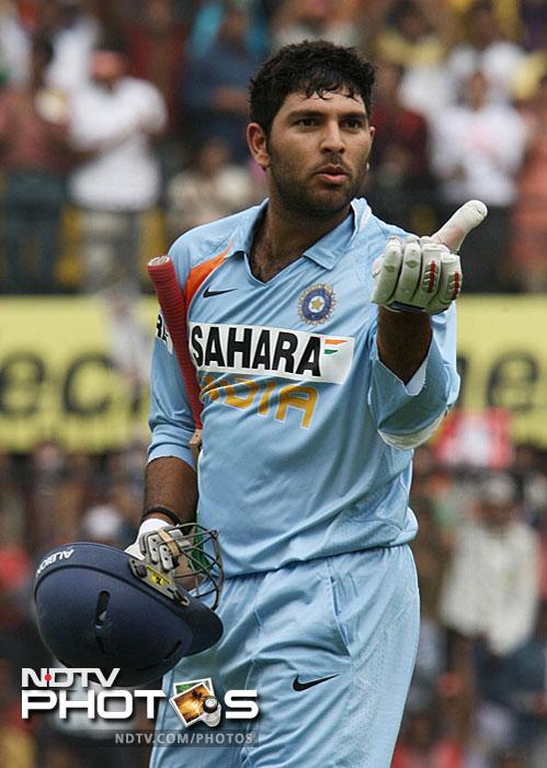 <b>118 vs England in 2008:</b> During England's tour of India in 2008, Yuvraj slammed two centuries. He slammed an unbeaten 138 in Rajkot and played a balanced innings of 118 in Indore. While the first hundred was brutal, the second was a mature one. On a batting paradise of Rajkot, he had the English bowlers at his mercy but in Indore he was playing a different role. He took the field when India were struggling at 29/3 on a difficult batting pitch. From there on he built a good partnership of 134 runs with Gautam Gambhir. He made 118 runs in 122 balls.