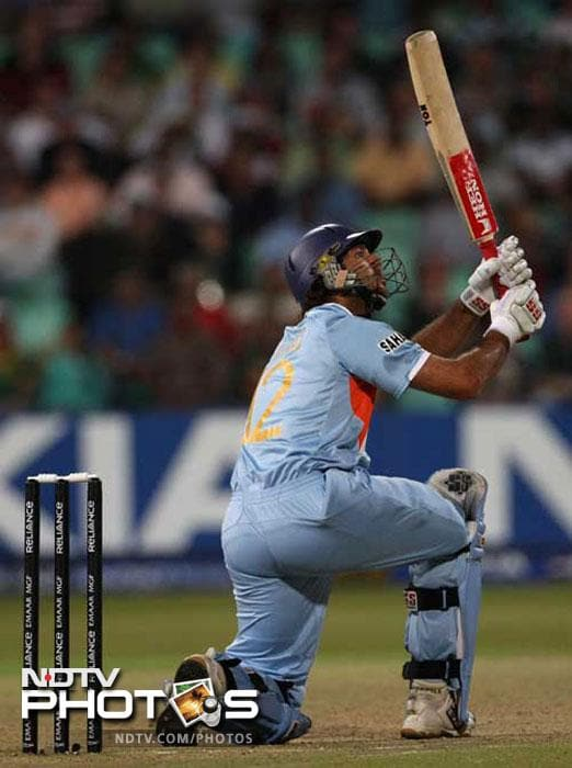 <b>58 vs England in World T20 in 2007:</b> This particular game of T20 took Yuvraj Singh to another level. Stirred by Andrew Flintoff, Yuvraj vented his anger in the next over that was bowled by Stuart Broad. He hit him for six sixes to score a quickfire 58 runs and knock the England team out of the tournament. With this he taught the world that it's never a good idea to irk a Punjab <i>da puttar</i>.