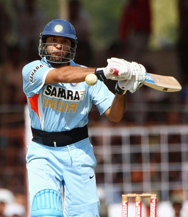 <b>First appearance:</b> He was first noticed during the Under-19 World Cup in 1999. He soon broke onto the international stage in 2000 when he made his debut in the 2000 ICC Knock Out Championship under the leadership of Sourav Ganguly.<br><br>While he made his debut against Kenya but he got to bat for the first time in an international match when India faced Australia. He made blistering 84 runs to steer India to victory and knock the world champions out of the tournament.<br><br><a href='http://cricket.ndtv.com/cricket/ndtvcricket/readforum.aspx?trdid=2775'>Wish Yuvraj on his 28th birthday</a>