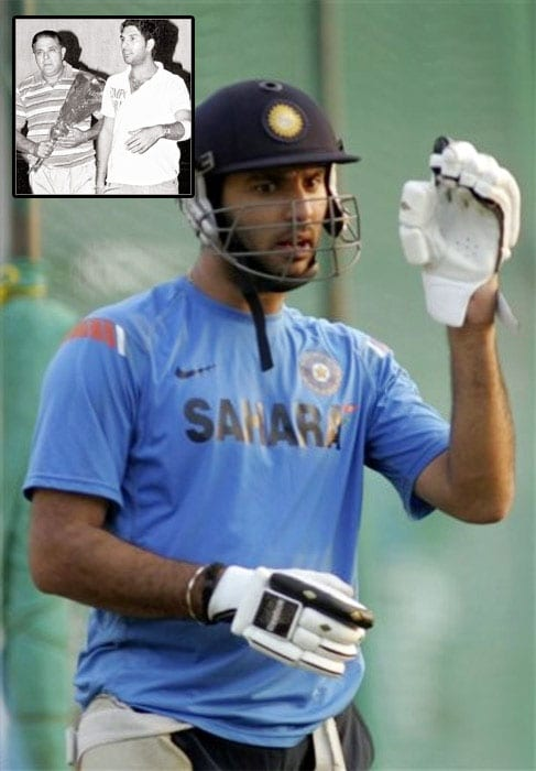 <b>Roller coaster ride:</b> Yuvraj, son of former cricketer Yograj Singh, never wanted to play cricket. He simply loved skating. While his father detested his love for rollers, Yuvraj went onto win a gold medal in the U-12 National Skating Championship.<br><br>His father, a promising fast bowler, represented India in just one Test match. So livid was he with the injustice meted out to him that he wanted a son who could fulfill his dreams. And here was Yuvraj gliding on rollers. After he won the championship, his father threw away his medal and told him to play cricket or he would break his legs.<br><br>Under the strict guidance of his father, Yuvraj started his grueling training as a fast bowler. A back injury forced him to give up fast bowling and take up batting. And since then there has been no looking back.<br><br><a href='http://cricket.ndtv.com/cricket/ndtvcricket/readforum.aspx?trdid=2775'>Wish Yuvraj on his 28th birthday</a>
