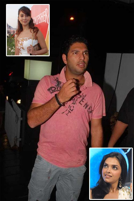 <b>Lad's lasses:</b> Yuvraj's (in)famous for his love for parties and his been often criticized for it. Apart from that, his alleged affairs with pretty women also keep the paparazzi busy.<br><br>His half-a-decade long relationship with model-turned-film actress Kim Sharma allegedly came to an end after his mother didn't approve of her. And Mama's boy that Yuvi is, he gave in to mom's wish.<br><br>However, he soon got linked to Deepika Padukone. The two started dating but kept it under wraps. They were spotted dining when Yuvraj was in Australia in 2008 and Dipika was there shooting for her movie <i>Bachnaa Ae Hasino</i> with Ranbir Kapoor. <br><Br>She soon left him for the dashing Kapoor. However, after her recent split with Ranbir, she came face-to-face with Yuvraj during a sports awards function. All they exchanged were a few smiles. Did someone say, old fire re-igniting?<br><br><a href='http://cricket.ndtv.com/cricket/ndtvcricket/readforum.aspx?trdid=2775'>Wish Yuvraj on his 28th birthday</a>
