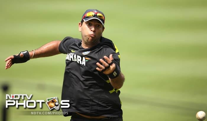 An image of Yuvraj spilling a catch. While his return in itself is a big relief for fans, spectators will not mind the dropped chances as long as the south-paw can whack the ball out of the park.