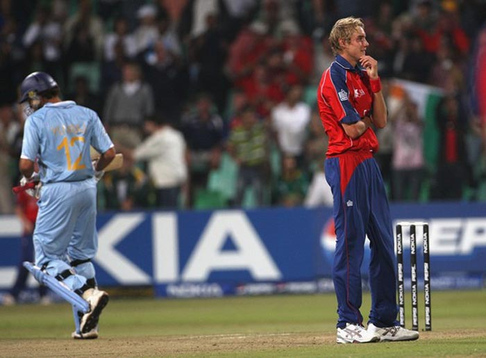 Yuvraj's reply though, was better and remembered more passionately. Stuart Broad of England had no idea what hit him though he got struck six times in six balls. Yuvraj re-emphasized that he was a knock-out player.