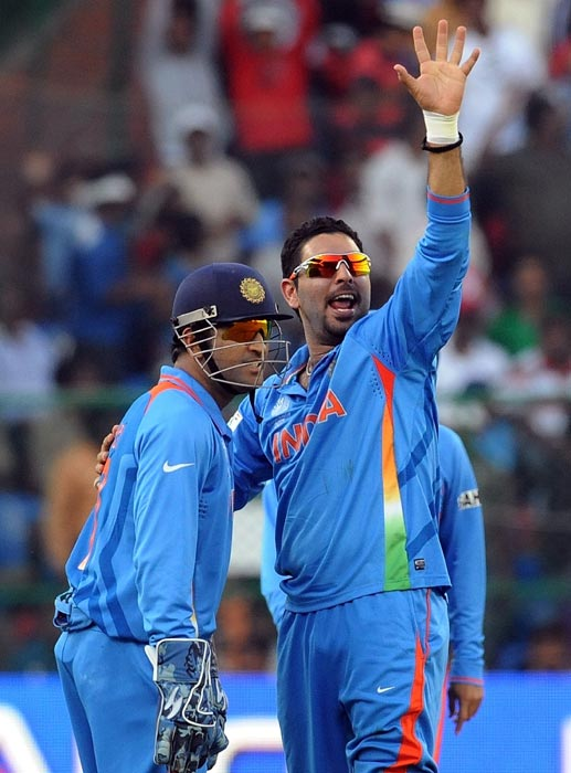 As a batsman Yuvraj looked a matured player in this World Cup. He batted with responsibility, appreciating the situation the team was in. Importantly, he has put a price on his wicket, refusing to throw it away playing fanciful shots. He has also learnt to respect the bowler and waited for an opportunity to get into an attacking mode. He is a real finisher now and the three unbeaten scores in the World Cup amply demonstrate his new found status.
