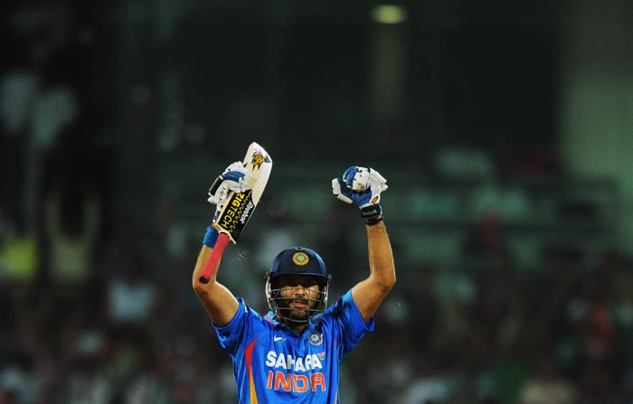 His 58 off 50 balls with nine fours against England was a typical Yuvraj knock. His next two innings against Ireland and the Netherlands were less flamboyant and more productive as he curbed his attacking instinct. (AFP Photo)