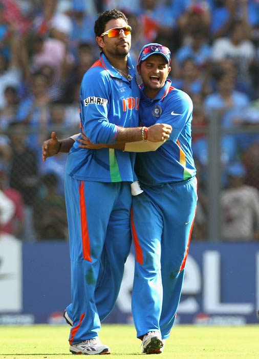 Yuvraj was again at the forefront with the ball in the final against Sri Lanka. He broke the crucial stand of Kumar Sangakkara (48) and Mahela Jayawardene (103 not out) which was threatening to bat India out of the game. He got Sangakkara caught behind and then trapped Thilan Samaraweera lbw.