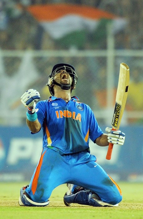 Yuvraj Singh came into the World Cup with questions over his fitness and form. The flamboyant left-hander has brilliantly responded to the challenge with an awesome all-round performance. From a back-up trundler, he has now become a regular fifth bowler and that has made him a genuine all-rounder. (AFP Photo)