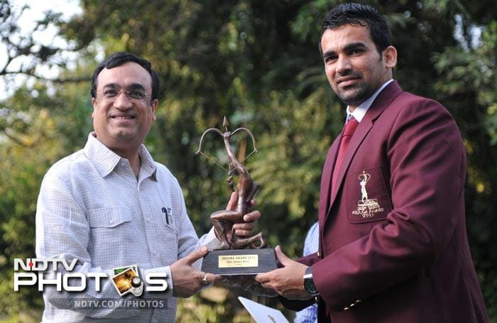 """In 2011, Zaheer also received the Arjuna award for his contribution to Indian sports.<br><br> <a href=""""http://gen.ndtv.com/convergence/ndtv/new/forums/readforum.aspx?trdid=4631"""">Wish Zaheer Khan on his 33rd birthday</a>"""