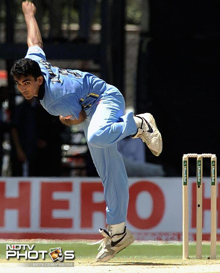 """Zaheer shot into limelight when he dismissed Australian skipper Steve Waugh in the Champions Trophy in the year 2000.<br><br> <a href=""""http://gen.ndtv.com/convergence/ndtv/new/forums/readforum.aspx?trdid=4631"""">Wish Zaheer Khan on his 33rd birthday</a>"""