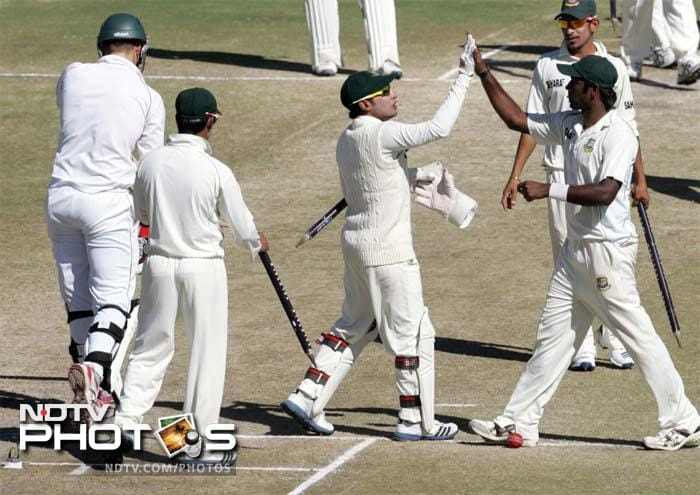 This was Bangladesh's first Test win in Zimbabwe. It was their overall fourth win in Test history.