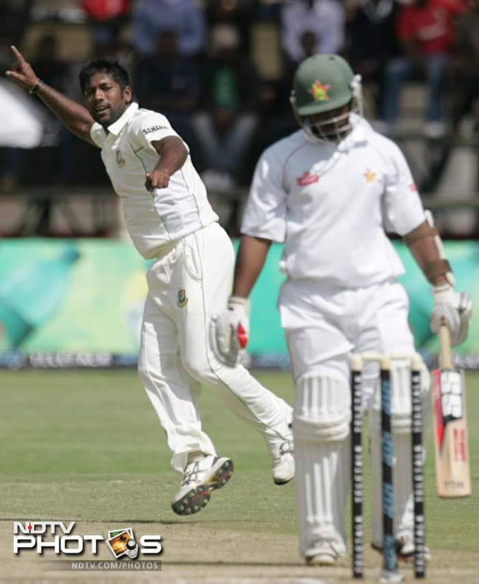 Bangladesh pacer Robiul Islam was named the Man of the Series for finishing with 15 wickets in the 2-match series.