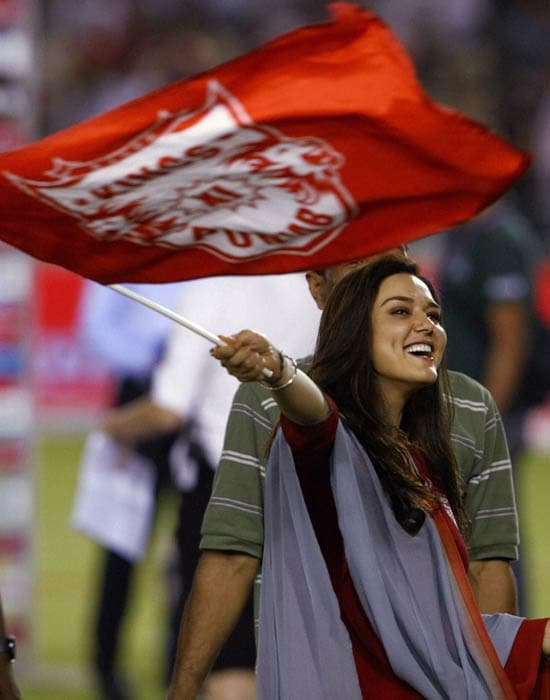 Preity Zinta was her bubbly self after Kings XI Punjab pulled off one of the biggest upsets in the IPL against MS Dhoni-led Chennai Super Kings.