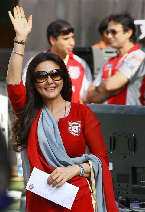 It seems the dimpled actress has put behind her break-up with Ness Wadia completely as the two were seen supporting their team from the stands.