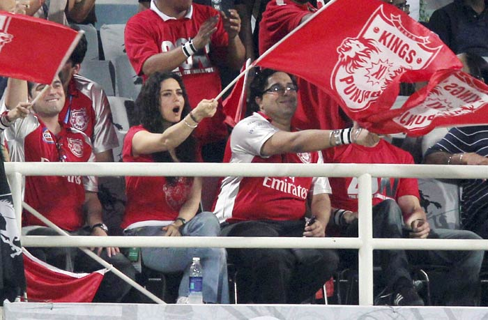 Preity was seen with friends during the Kings XI Punjab's match against Yuvraj Singh-led Pune Warriors. The former Punjab player led his new franchise to victory against Zinta's team.