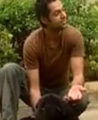 Abhay Deol with his adorable pet