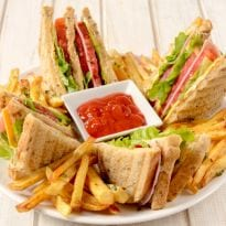 King of In-Room Dining: The Mighty Club Sandwich