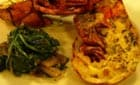 Coldwater Lobster with Spinach and Mushrooms
