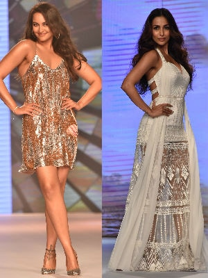 Sonakshi And Malaika's Fashion Game Of Fire And Ice
