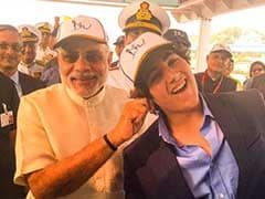 Ahoy There, That's Akshay, Twinkle's Son Aarav With PM Modi at The Fleet Review