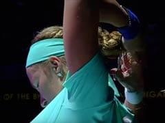 Upset Kuznetsova Chops Off Hair On Court, Spectators Watch In Disbelief