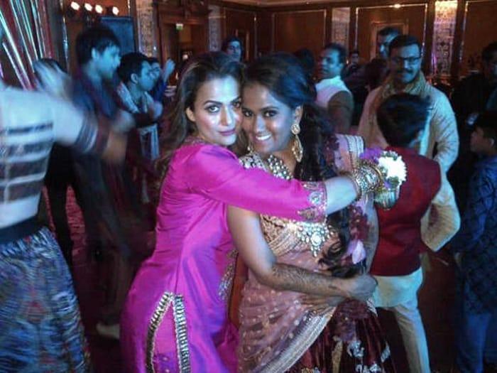 Malaika Arora with Arpita Khan