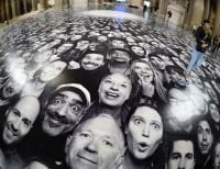 The Pantheon in Paris gets a face-lift by street artist