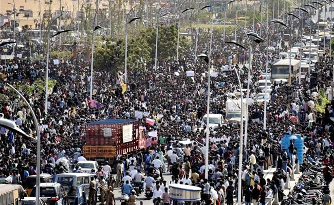 36 Hours And Counting. Thousands At Chennai's Marina Beach Against Jallikattu Ban: 10 Facts