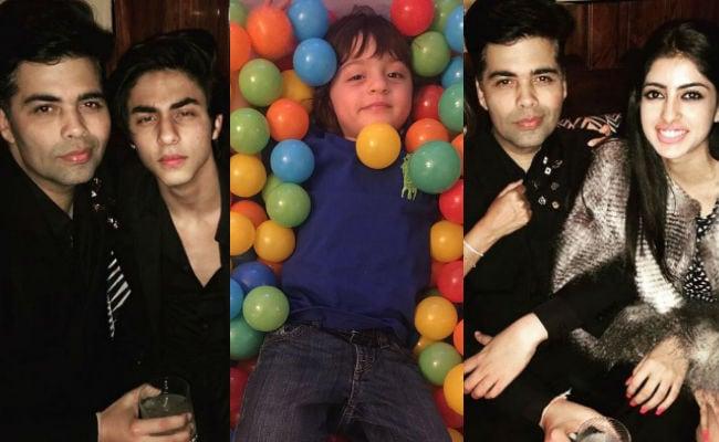 Karan Johar Celebrates Birthday With Aryan, AbRam, Navya in London