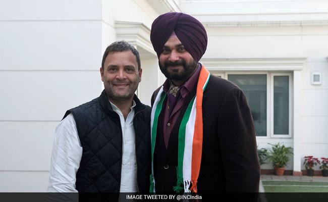 Image result for Navjot Singh Sidhu joins Congress